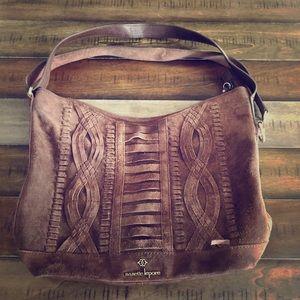 Brown Suede Handbag - Nanette Lepore